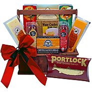 Best Gifts for Foodies - Top Meat and Cheese Gift Baskets and Sets for 2016-2017 | Art of Appreciation Gift Baskets Meat and Cheese Lovers Tote with Smoked Salmon
