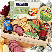 Gourmet Meat & Cheese Sampler - GourmetGiftBaskets.com