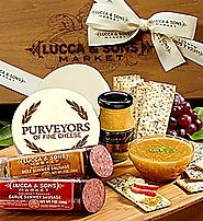 Best Gifts for Foodies - Top Meat and Cheese Gift Baskets and Sets for 2016-2017 | Lucca & Sons Sausage & Cheese Gift Box