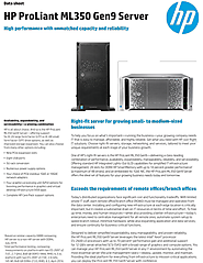 HP ProLiant ML350 Gen9 Tower Server