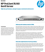 HP ProLiant DL160 Gen9 Rack Server