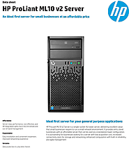 HP ProLiant ML10 v2 Tower Server