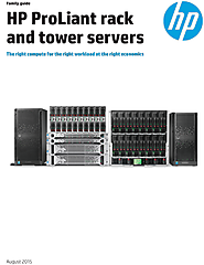 HP ProLiant rack and tower servers