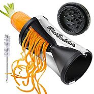 Best Rated Spiral Vegetable Slicers Reviews | Kitchen Active Spiralizer Spiral Slicer Zucchini Spaghetti Pasta Maker Black