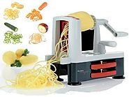Best Rated Spiral Vegetable Slicers Reviews | Westmark Germany Spiromat Vegetable Slicer Decorator Best Veggie Pasta Spaghetti Maker for Low Carb/Paleo/Gluten-Free...