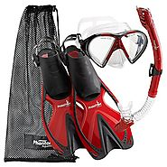 Best Rated Snorkeling Sets Reviews | Phantom Aquatics Adult Speed Sport Mask Fin Snorkel Set
