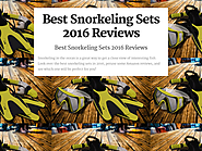 Best Rated Snorkeling Sets Reviews | Best Snorkeling Sets 2016 Reviews