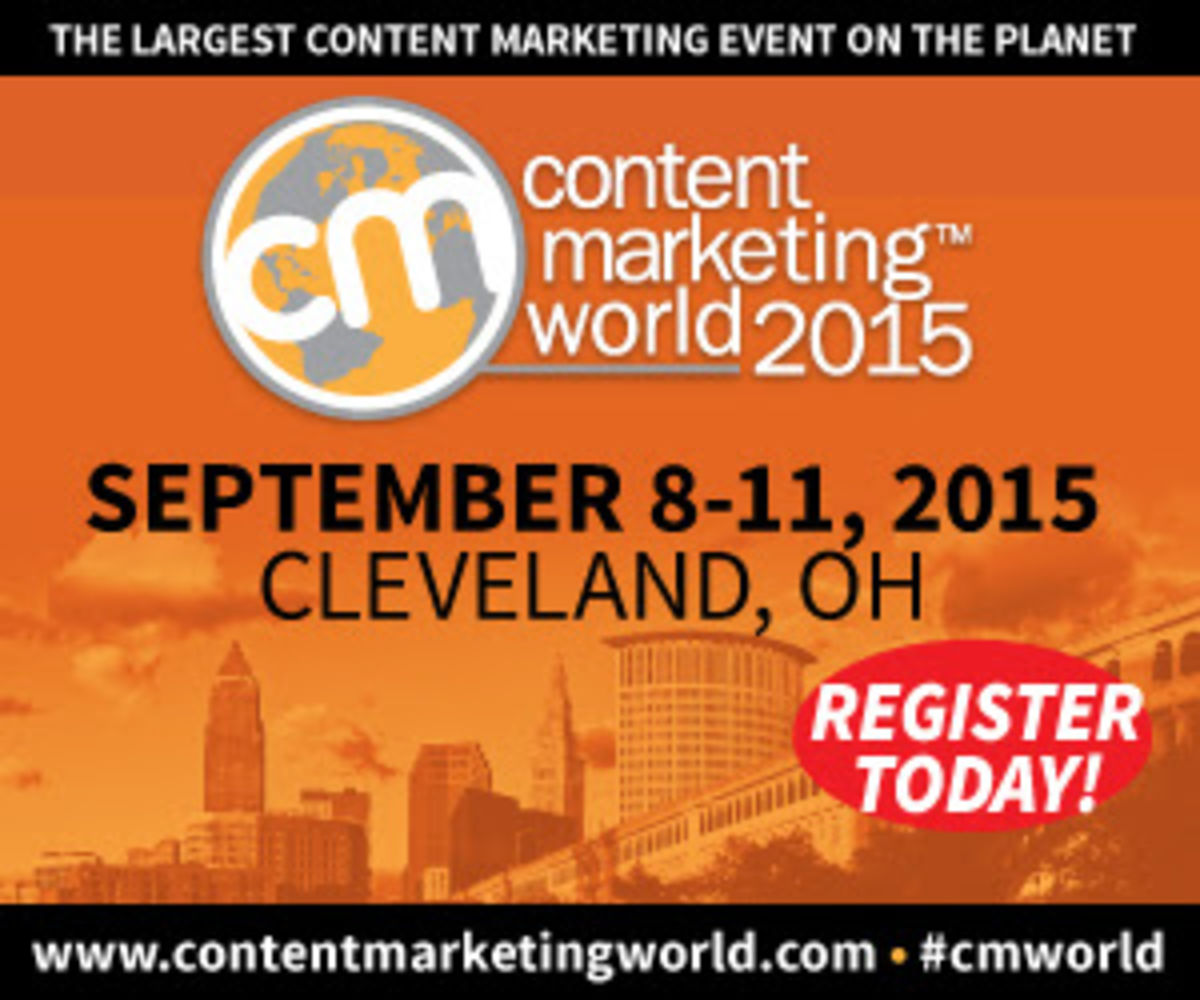 Content Marketing World 2015 conference