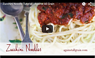 How to Make Zucchini Noodles Video Recipe