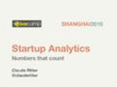 Cohort Analysis / Tracking Segments | Startup Analytics - Numbers that count