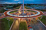 b003 | The First Suspended Bike Roundabout in Netherlands