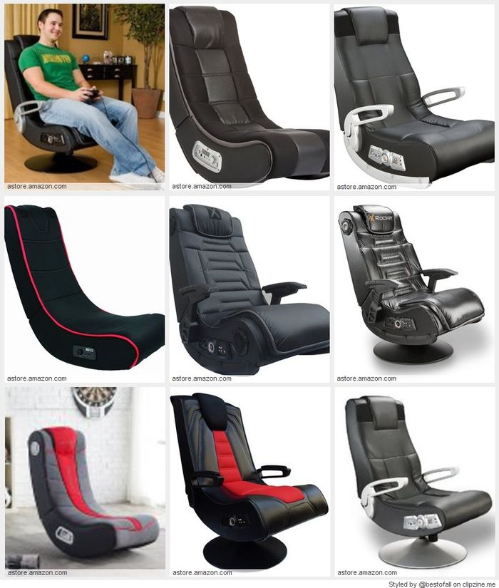 Best rated video gaming chairs 2016 a listly list Silla x rocker 51491 extreme iii 2 0 gaming rocker chair with audio system
