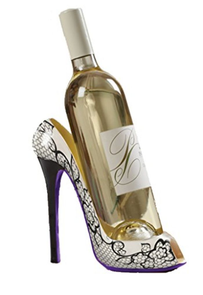 Cute and best rated high heel wine bottle holders a for Cute wine bottles
