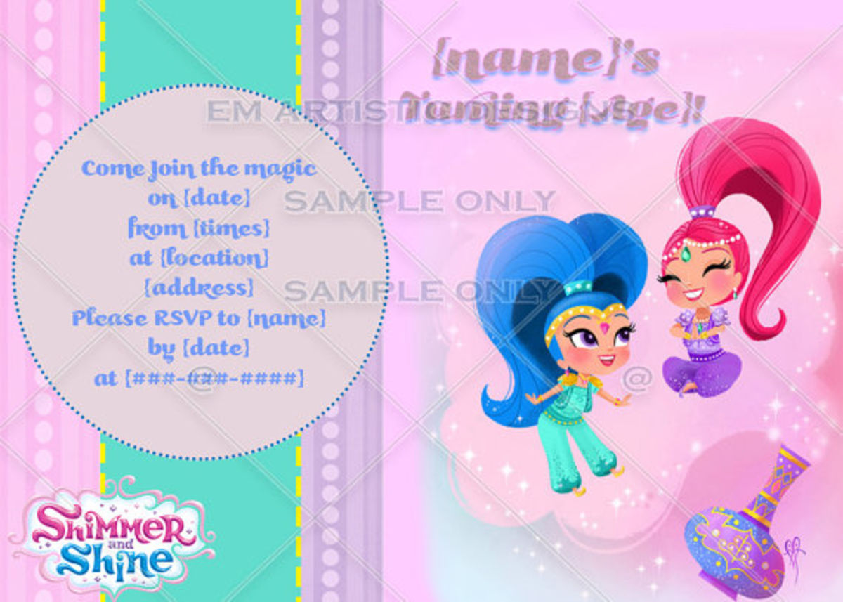 Shimmer And Shine Birthday Party Ideas Supplies For Themed