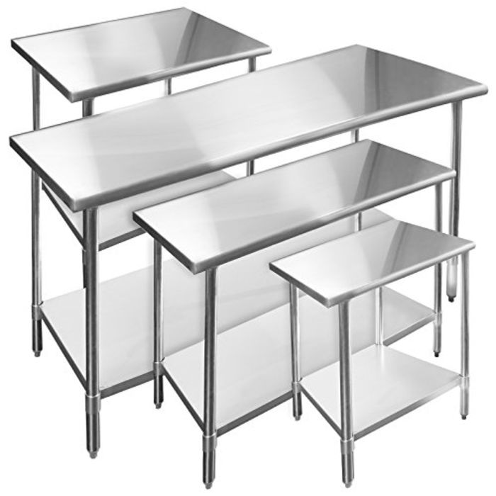 Best Stainless Steel Prep Table Reviews 2018-2019 | Stainless Steel Work Tables with Drawers, Wheels and Sink