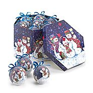 Winter Snowman Christmas Ornaments | WINTERY NIGHT SNOWMAN ORNAMENT SET - 10016079