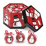 Winter Snowman Christmas Ornaments | Black & Red Snowman Ornaments