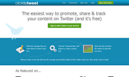 Social Media Tools | ClickToTweet
