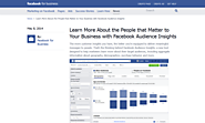 Social Media Tools | Facebook Audience Insights