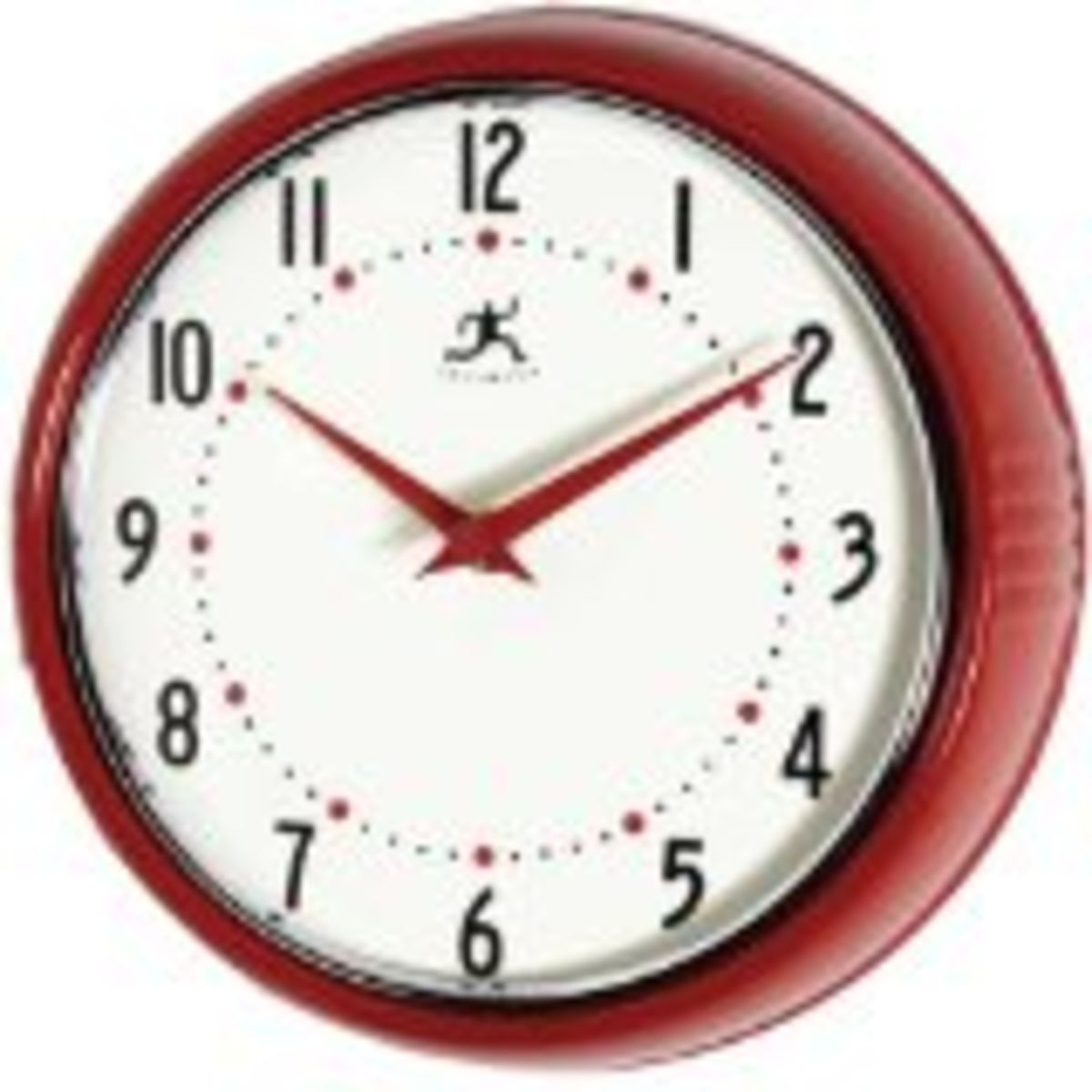 Best Red Kitchen Wall Clocks Large Retro Red Apple And