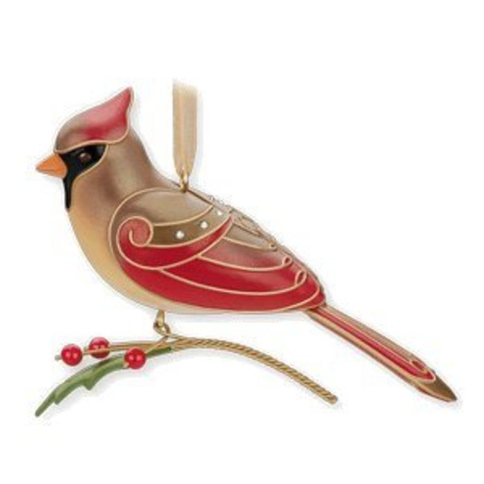 beautiful red bird christmas ornaments a listly list. Black Bedroom Furniture Sets. Home Design Ideas
