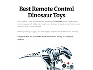 Awesome and Affordable Remote Control Dinosaur Toys for Kids