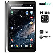 Best Rated Digital Scrapbooking Tablets 2016 | NeuTab® 10.1 Inch Octa Core Android 5.1 Lollipop System Tablet 1GB RAM 16GB ROM Bluetooth 4.0 Dual Camera Mini HDMI o...