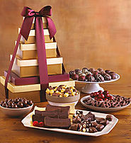 Top Gourmet Chocolate Gifts - 2016-2017 Best Corporate Gift Basket Ideas | Deluxe Tower of Chocolates - Harry and David