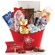Top Gourmet Chocolate Gifts - 2016-2017 Best Corporate Gift Basket Ideas | Seasonal Delights Holiday Gift Basket - Lindt USA