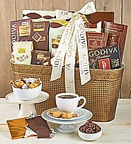 Top Gourmet Chocolate Gifts - 2016-2017 Best Corporate Gift Basket Ideas | Godiva Decadence Gift Basket - 1800Baskets.com