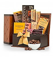 Top Gourmet Chocolate Gifts - 2016-2017 Best Corporate Gift Basket Ideas | Sweet Gratitude Godiva Gift Chest - GiftTree.com
