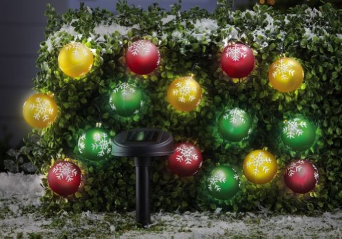 Solar Powered Christmas Tree Lights