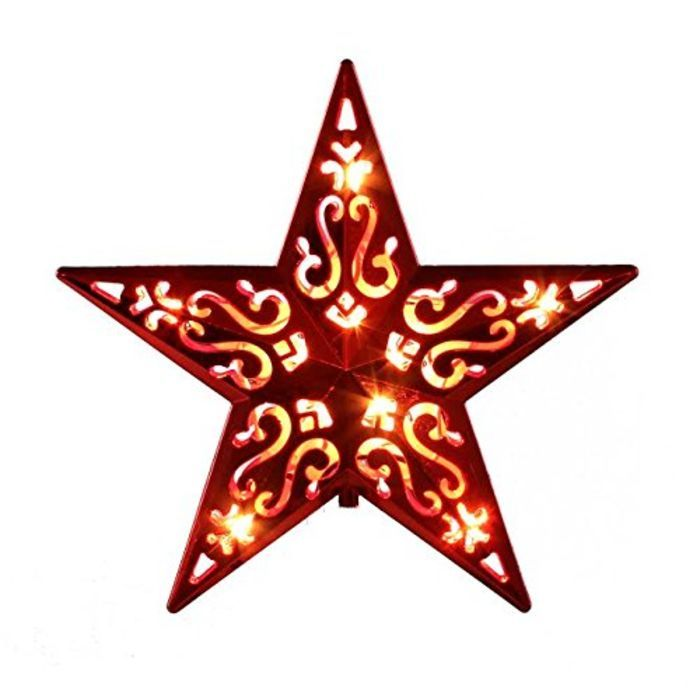 Cheap lighted star christmas tree topper a listly list for Christmas tree items list