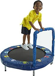 Best Kids Trampoline With Handle And Music | Bazoongi Bouncer Trampoline
