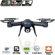 Best Rated RTF Quadcopters Reviews | Spy Drone with Camera Quadcopter X007 - Best Drones on sale - (2nd Generation) 2MP HD Camera 720p, 6 Axis Gyroscope, ...