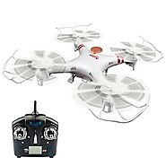 GPTOYS F2C Aviax Remote Control Quadcopter Drone Helicopter with Transmitter & Gyro System & HD Camera & ...