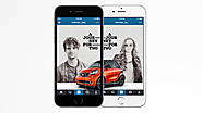 Smart Car Tells an Instagram Story for Two, on a Pair of Devices Side by Side