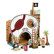 Gifts for Preschoolers | Teamson Kids-Pirate Table Top Playset, Multicolor