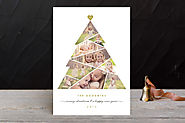 Complete tree christmas photo cards