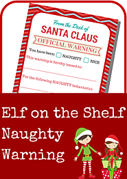 Elf on the Shelf Free Printables | Elf on the Shelf Naughty Warning Letter