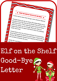 Elf on the Shelf Free Printables | Elf on the Shelf Good-Bye Letter