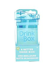 DRINK IN THE BOX Reusable Drink Box, in Blue