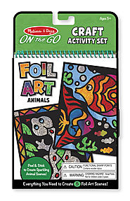 Stocking Stuffers from Melissa & Doug | On-the-Go Crafts - Foil Art Animals