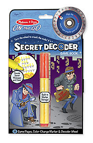 Stocking Stuffers from Melissa & Doug | Secret Decoder Game Book - ON the GO Travel Activity Book