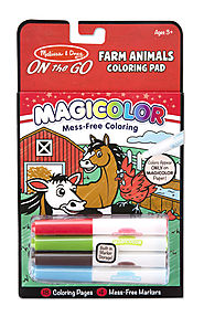 Stocking Stuffers from Melissa & Doug | Magicolor - On the Go - Farm Animals Coloring Pad