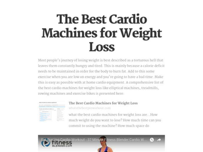 best cardio machine for loss