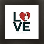 10 Personalized Gifts | Stacked Love Heart Art Print