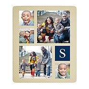10 Personalized Gifts | Monogram Gallery of Five Photo Quilt