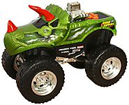 "Holiday Gifts for Boys | Toy State Road Rippers Light and Sound 10"" Monster Truck: DinoRoar X4"