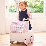 Pretty Push-Along Doll Pram